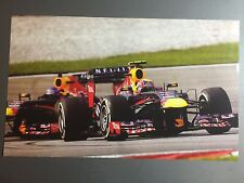 2014 Mark Webber's Infinity Red Bull Racing Formula 1 Print Picture Poster RARE!