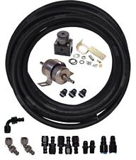 Carb Engine Fuel Line Kit -Str. & 45 AN-6 Fittings & Regulator- Carb-Line-Kit-45