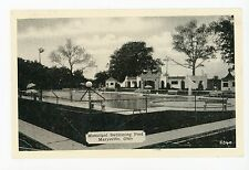 Municipal Swimming Pool MARYSVILLE OH Milford Center—Vintage PC 1954