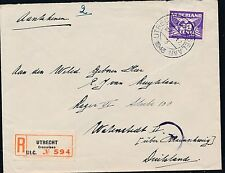 1943 Utrecht Netherlands to Germany Cover Watenstedt Concentration Camp KZ