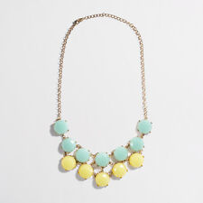 J.Crew Green yellow Tiered Stone Bib Necklace NIP $49 Style 03045
