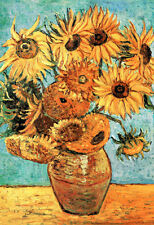 Vincent van Gogh Vase With Twelve Sunflowers 1888 Oil Canvas Art Poster - 13x19