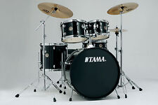 "Tama Rhythm Mate Drum Kit in Black with Basin 20""/10""/12""/14""/14""x5"""