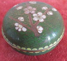 boite à pilules émaux cloisonnées verts Asie Chine chinese enamelled pillbox