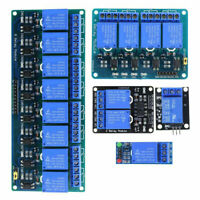 5V DC1/2/4/8 Channel Relay Board Optocoupler Module LED for Arduino PiC ARM AVR
