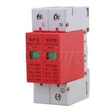 2P 40~80KA Din Rail Surge Protection Over Voltage Lightning Arrester SPD Red