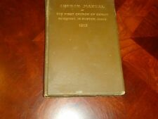 MARY BAKER G. EDDY  FIRST CHURCH OF CHRIST SCIENTIST 1913 MANUAL OF MOTHER CHURC
