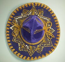 Pigalle Mexican Hat Mariachi Sombrero Made in Mexico Purple Velvet Gold 5X XXXXX