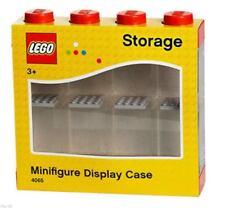 LEGO Small Minifigure Case Small Red Stores 8 Mini Figures Minifigures  xmas New
