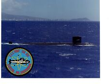 USS Tunny SSN682 Submarine Original Photograph 8x10 Color with Insignia Sticker