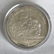1991 Marshall Islands $50 Coin Heroes Pearl Harbor Proof 1 oz .999 Silver