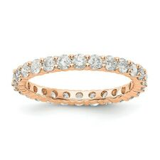 1.5ct Natural Diamond Wedding Ring Women Stackable Eternity Band 14k Rose Gold