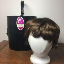 Vintage Black Moc-croc Accurate Wig Case Hat Box Abbott Brown Wig Original Tags