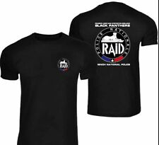 MAGLIA GIROCOLLO UNISEX T SHIRT RAID POLICE NATIONALE FRANCE 🇹