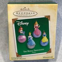 2005 Hallmark Keepsake Miniature Set of 4 Ornaments Disney The Royal Princesses