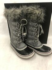 Sorel Women's Joan of Artic Waterproof Boot  Quarry/ Black Size 6