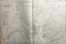 ORIGINAL 1896 L.J. RICHARDS, METHUEN, MASSACHUSETTS, FAIR OAKS, PLAT ATLAS MAP