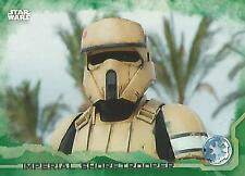 """Star Wars Rogue One Series 1: #41 """"Shoretrooper"""" Green Parallel Base Card"""