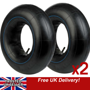 """Two 10 INCH TRAILER TYRE INNER TUBES 10"""" 145x10 500x10 FITS OLD MINI 145r10 2x"""