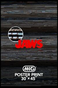 HUGE! JAWS Genuine MAAG poster. 30 x 45 inch. GREAT for home cinema, movie fan..