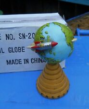 "CLASSIC FOSSIL WATCH "" AROUND THE GLOBE "" DESK ADVERTISING 7"" TALL PLANET EARTH"