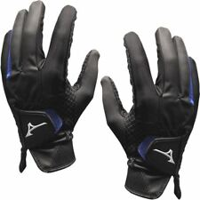 NEW MIZUNO GOLF 2018 RAINFIT ELITE SYNTHETIC GOLF GLOVES, BLACK, MEN, PAIR