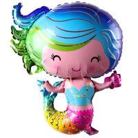 1pc Mermaid balloons Birthday Party Decor Kids Wedding Christmas Supplies JH