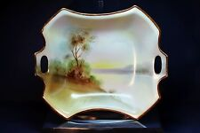 Antique Nippon Marked Hp Porcelain Tray Ca. 1915