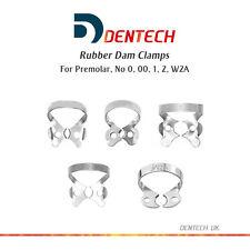 Barrage en caoutchouc clamps dental restorative prémolaires set de 5 * acier allemand ce nouveau *
