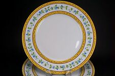 """Limoges Ceralene Raynaud MORNING GLORY Ring Two Large 10 3/4"""" Dinner Plates - A"""