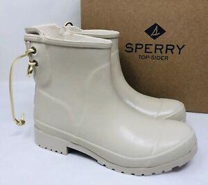Sperry Women's Walker Turf Rain Booties Ivory, Pick A Size