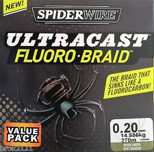TRESSE SPIDERWIRE ULTRACAST FLUORO BRAID 20/100 14.556KG 270M carnassiers carpe