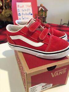 Vans Boys Toddler 10 Red Christmas