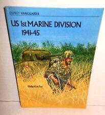BOOK OLD VANGUARD #8 US 1st Marine Division 1939-45 Phil Katcher op 1979