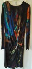 Ted Baker pennii Vestido Lápiz/Acanalada Abstracto Multicolor-tamaño 3 Reino Unido 12 -14