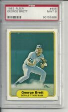 1982 Fleer George Brett #405 PSA 9 Mint Baseball Card.