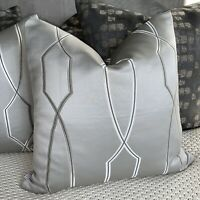 "Absolutely Gorgeous Cushion Comer 20"" John Lewis & Partners Hayden Fabric Grey"