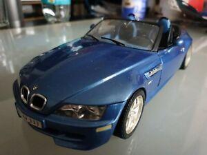 Nur 1 Tag Bburago BMW Z3 M Roadster 1/18 Blau Burago