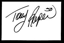 NASCAR Tony Roper autographed index card