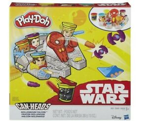 Star Wars Millennium Falcon Can Heads Play Doh Set ~ 2015 Hasbro ~ NEW/SEALED