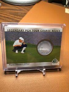 PAYNE STEWART 2021 UD ARTIFACTS GOLF LEGENDARY PGA TOUR COURSE SAND RELIC