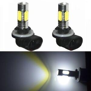 JDM ASTAR 2x High Power 7.5W 881 889 LED Plasma White Projector Fog Lights Bulbs