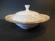 Vintage Elfenbein Porzellan Bavaria Covered Candy Dish Gold Trim Lid