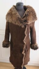 Joseph sheepskin shearling brown jacket Toscana lambskin fur coat 38 UK10EU36US8