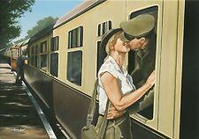 """ This is not Goodbye "" Train, WW2 Loving Kiss 10 x 8 Mounted Miniprint"