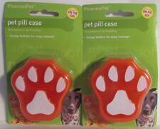 Orange  Pet Pill Case by PharmaPet - 2 packs  - New