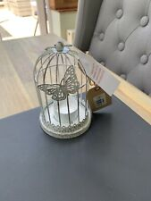 Beautiful Shabby Chic Country Distressed Metal Butterfly Tealight Holder