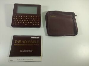 Franklin NIV-20 Electronic Bible w/ Case & Manual Tested