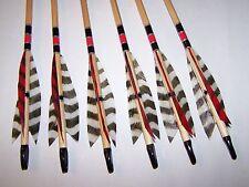 6 TRADITIONAL WOOD  11/32  LODGE POLE ARCHERY   ARROWS 50/55