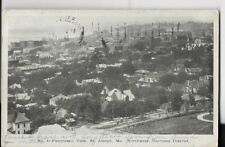 panoramic view of st joseph missouri,northwest business district 1907 early card
